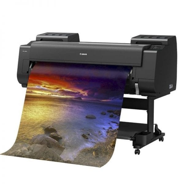 Canon Pro 4000 Printer Printing a picture of a sea landscape