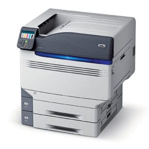 OKI Pro 9541 Turned on but not printing viewed from the side.