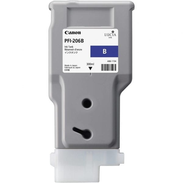 CanonPFI 206 300ml B Blue Cartridge Part Number: 5311B001AA