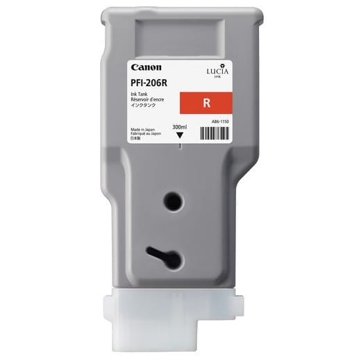 CanonPFI 206 300ml R Red Cartridge Part Number: 5309B001AA