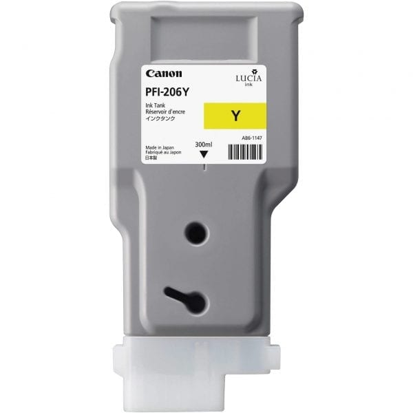 Canon PFI 206 300ml Y Yellow Cartridge Part Number:5306B001AA