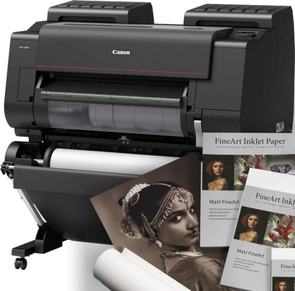 Canon imageprograf pro 2100 with hahnemule photo rag paper