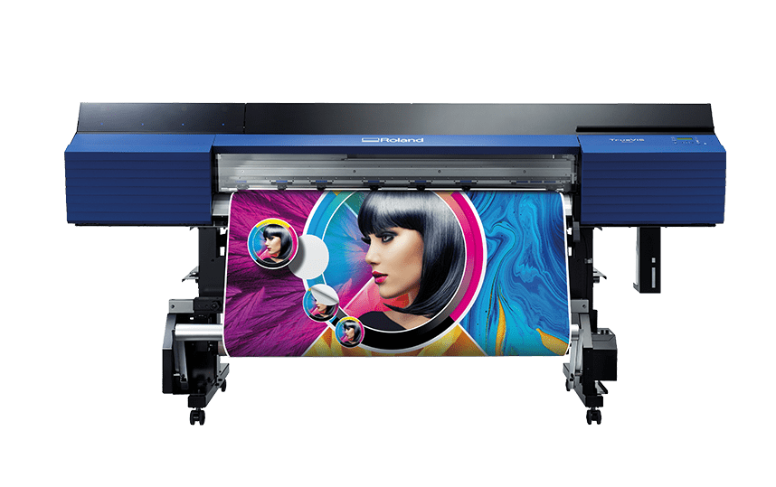 Roland SG2 540 Printing a colourful picture of a lady. foRWARD FACING