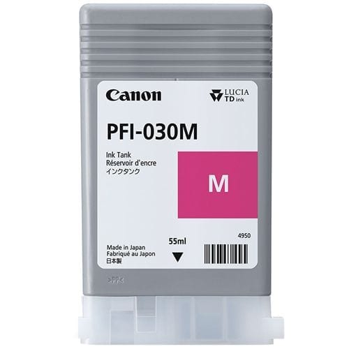 Canon PFI-030 Magenta Ink Cartridge viewed from the front