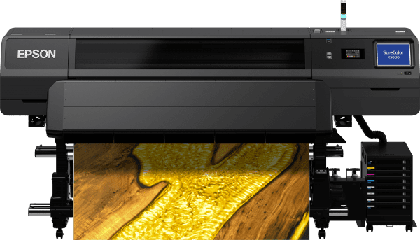 Epson Surecolor SC-R5000 Front view printing gold resin image