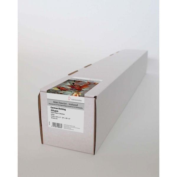 Hahnemuhle German Etching Boxed roll with label attached