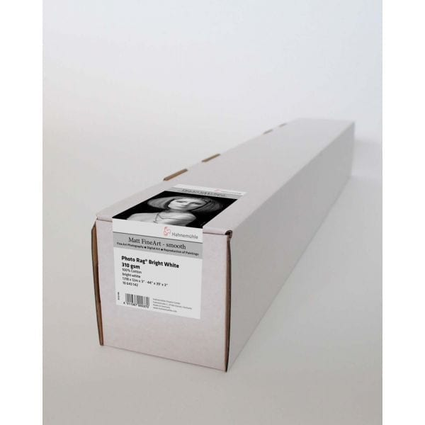 Hahnemuhle Photo Rag Bright White 310gsm in box with label attached